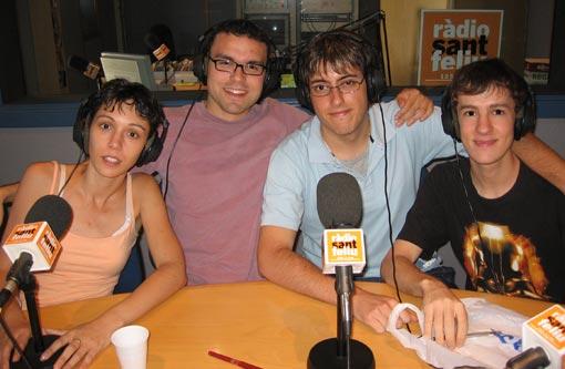La Vanesa, el Dani, jo i el Rafa (d'esquerra a dreta)