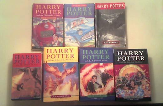 Les portades dels 7 Harry Potter