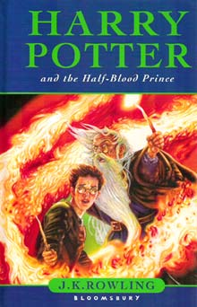 Portada de l'edició britànica del sisè llibre de Harry Potter