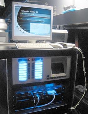 Projector digital de la sala 25 dels cinemes Kinepolis Madrid