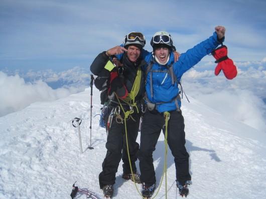El Josep i jo al Mont Blanc