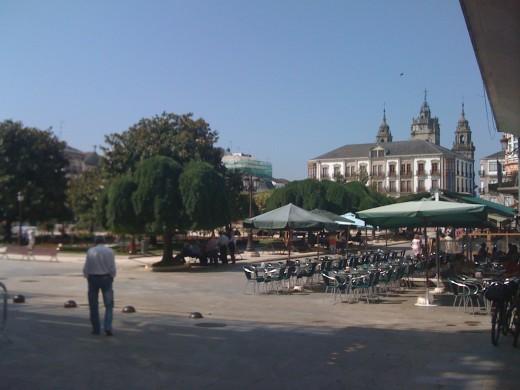 Plaça Espanya de Lugo, on hi havia el quiosc