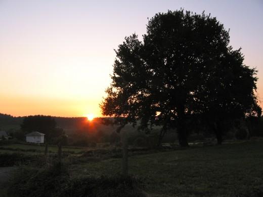 La posta de sol des de la casa